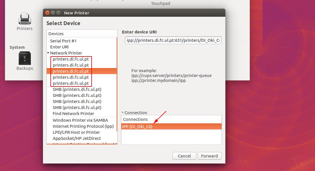 instalação de impressoras ubuntu slide 4