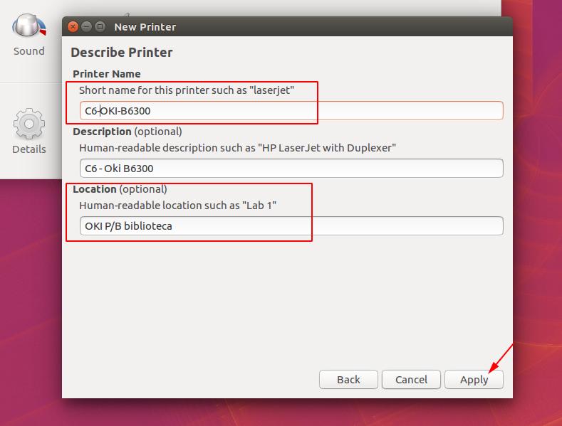 instalação de impressoras ubuntu slide 5